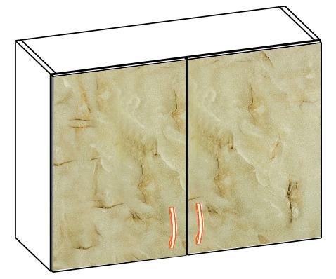 Горен шкаф с две врати Алина 80см