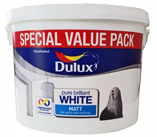 Интериорна боя  DuluxMat 7л, брилянтно бяла