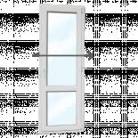 PVC Балконска врата KMG 700/2000, стъклопакет 24 мм/4 кам. дясна