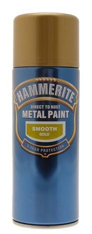 Спрей Hammerite 0.4л, златен гланц