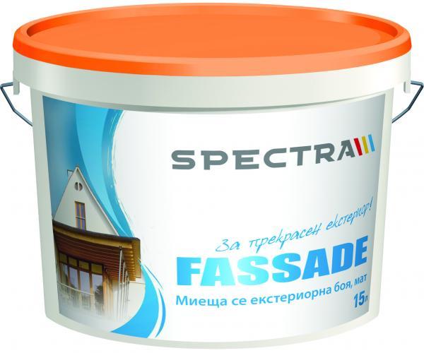 Бяла фасадна боя Spectra Fassade 28 л