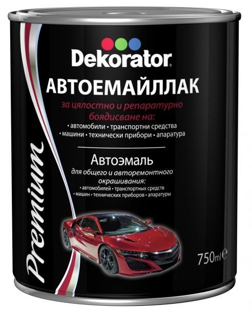 Автоемайллак Decorator 0.75л, червен