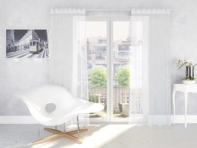 Перде ARAGONIA бяло 140х245