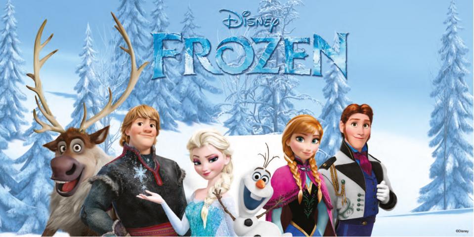 Фототапет Frozen 4 100x200 см