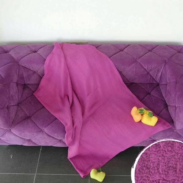 Одеяло ВАФЕЛ 150х200 см - лилаво