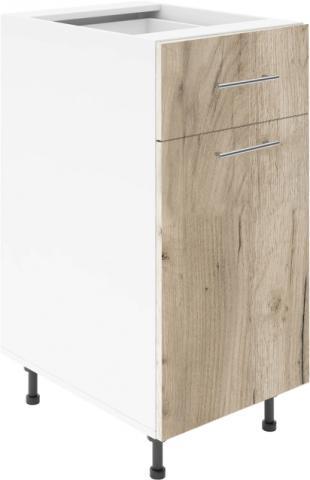 Крафт D2 долен шкаф с една врата и чекмедже 45см, дъб крафт сив