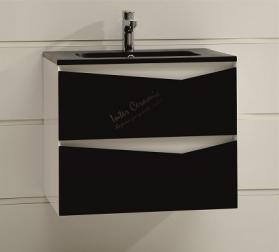 PVC шкаф Криста черно бял