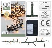Светещ гирлянд 400 LED  топло бяла светлина