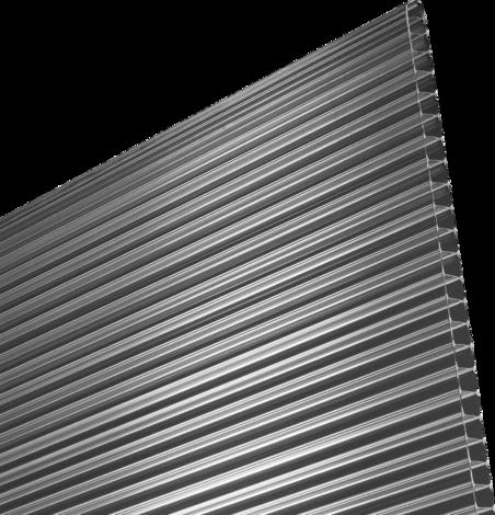 Поликарбонат плоскост 10 мм.Прозр.2х1.05 м