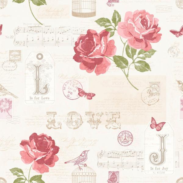 Тапет Червени цветя