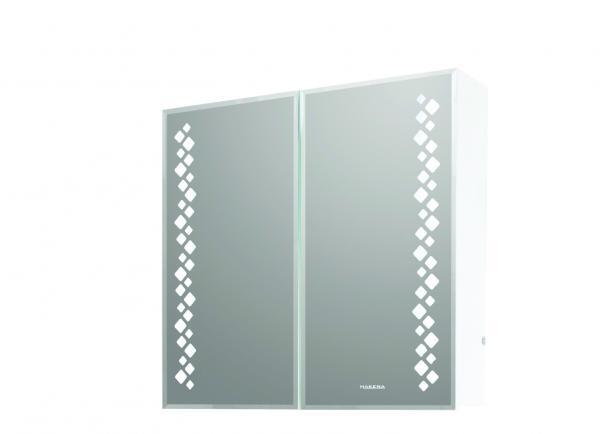 PVC  водоустойчив шкаф с огледало КУБА