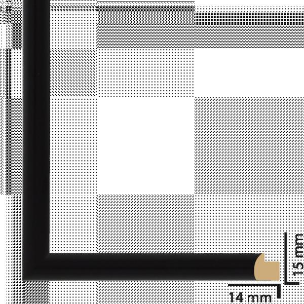 Рамка ПВЦ 10х15 см черно