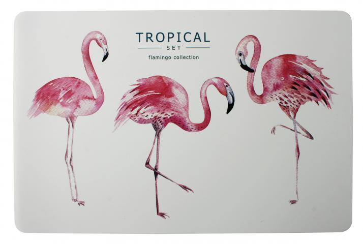 Подложка за хранене 3 Flamingi 43,5x28,2 см