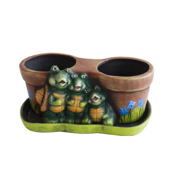 Саксия двойна с костенурки