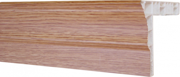 Корниз с бордюр бял 2.5м