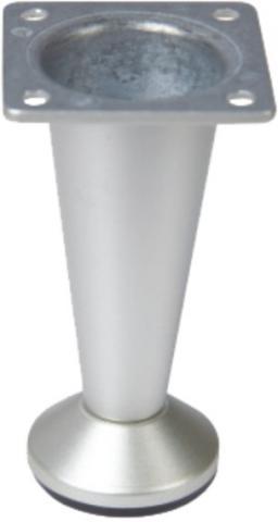 Крак мебелен конус 100мм. матхром