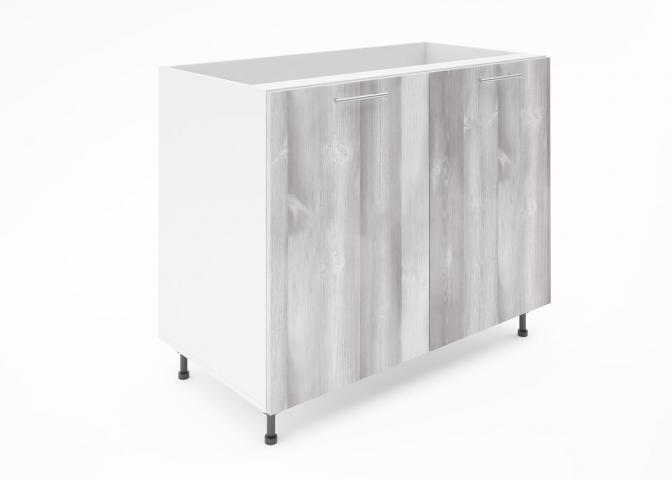 Крафт D6 долен шкаф с две врати (за мивка) 100см, дъб пикардия