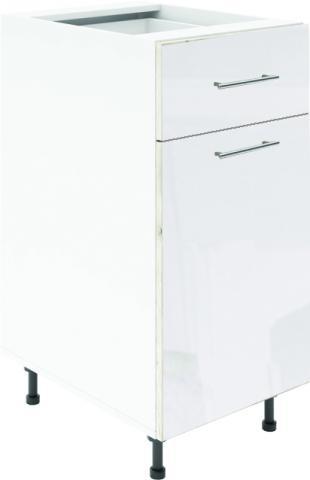 Крафт D2 долен шкаф с една врата и чекмедже 50см, бял гланц