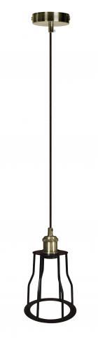 Пендел Елвис E27 античен месинг/черно D15 H120