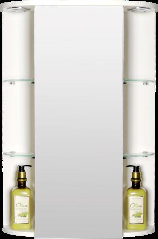 Огледален PVC шкаф с осветление, размер:50х15х70 см