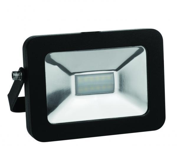 LED прожектор черен SLIM 10W 3000K IP65