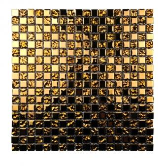 Стъкл. мозайка за басейн златист