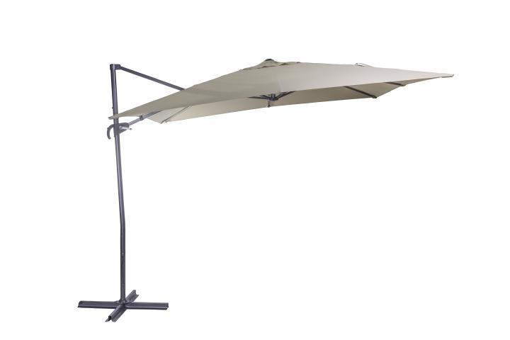Градински чадър Push up Martinique 2.6x2.6м, беж