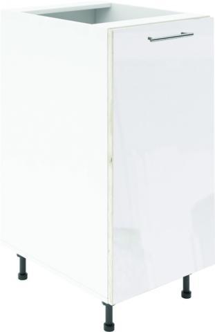 Крафт D1 долен шкаф с една врата 60см, бял гланц