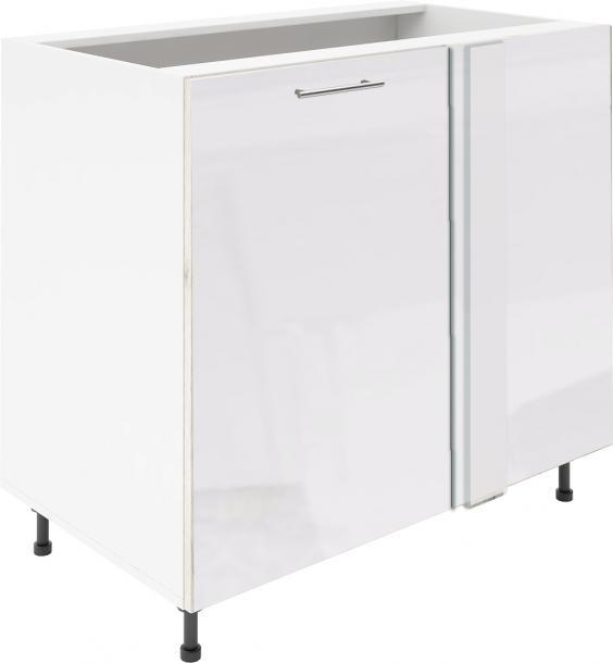 Крафт D7A долен шкаф с една врата и мъртво(300) 50см, бял гланц