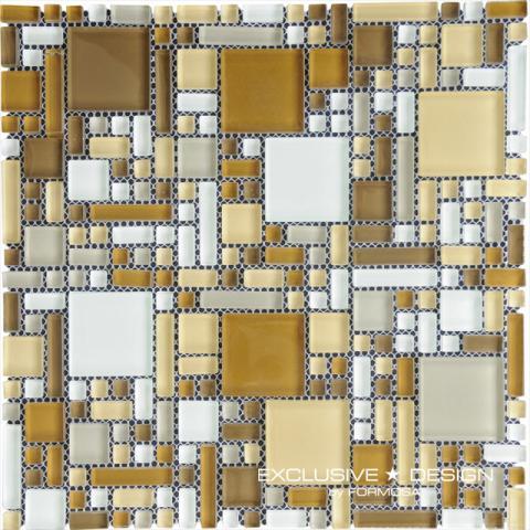 Стъклена мозайка беж