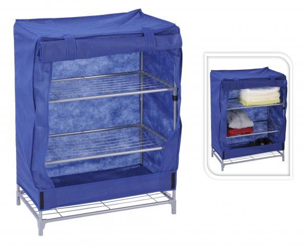 Текстилен шкаф с 3 рафта