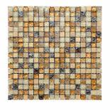 Стъклено-каменна мозайка беж микс