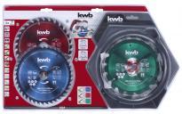 Комплект циркулярни дискове Ф160мм 3бр KWB