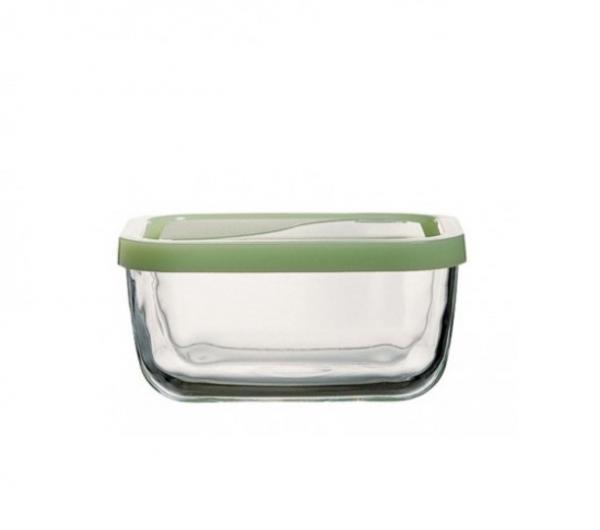 Кутия прав. стъкло с пласт. капак 0, 420л.120х91мм