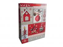 Плик за подаръци Коледа лукс 41х32х12см
