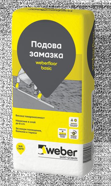 Weberfloor basic подова замазка 25 кг
