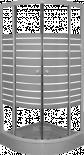 Овална душ кабина 80х80 бял