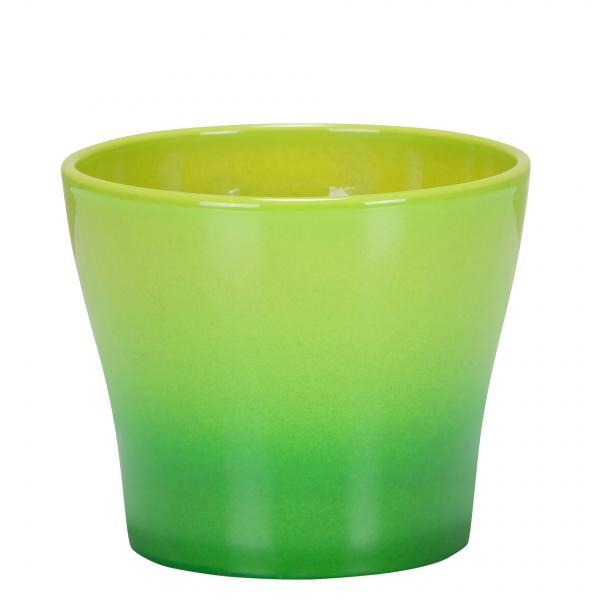 Кашпа зелена преливаща  Ф15