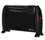 Подов конвектор с вентилатор черен Елдом CFV2000-BL