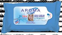 Мокри кърпички Aroma - за лице