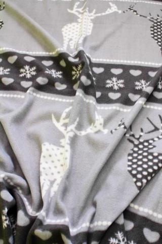 Поларено одеяло LAPONIA сиво 130х170