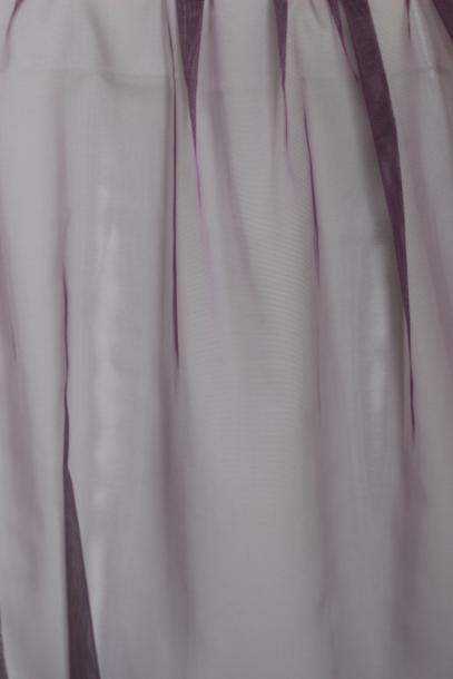 Перде органза тъмно лилаво