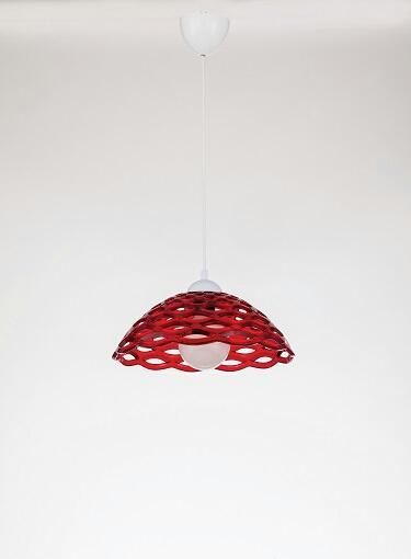 Пендел PVC 30см 1х60W Е27 червен