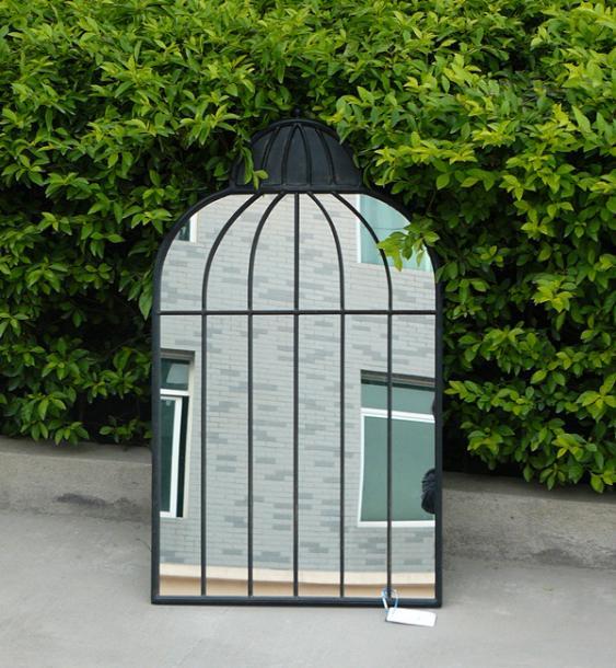 Градинско огледало 51х2х86.5 см, черно