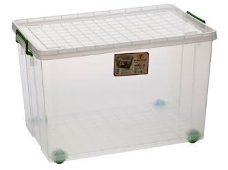 Кутия прозрачна  с колела 75 л