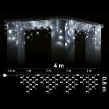 Светеща Завеса  216 бели LED /диодни/ лампички