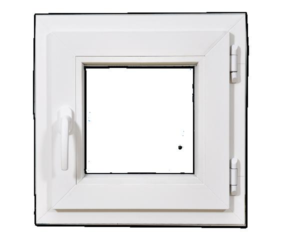 PVC позорец за баня KMG 50/50см,стъклопакет 24 мм/4 кам.