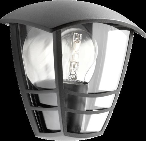Градинска лампа Крийк черен  IP44, E27 60W