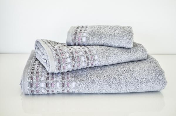 Хавлиена кърпа Юнона 50х80 см - сива