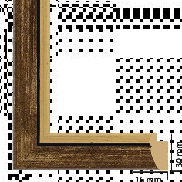 Рамка ПВЦ 10/15 см злато